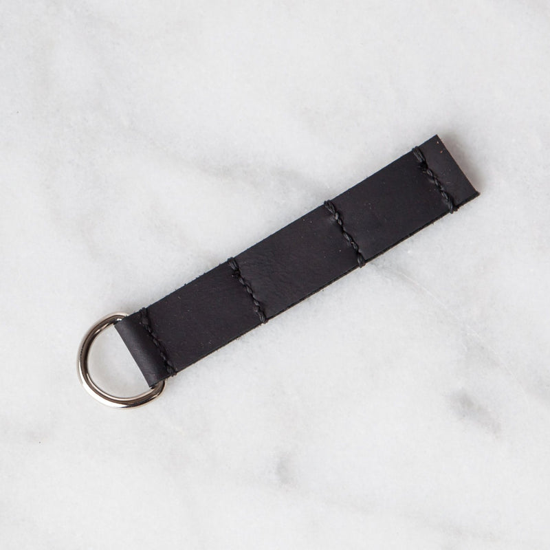 Handmade Leather Sample Keychains Accessories Hive Leather Black