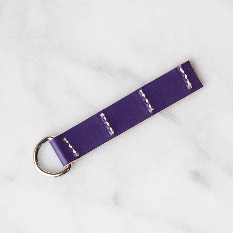 Handmade Leather Sample Keychains Accessories Hive Leather Lavender Purple