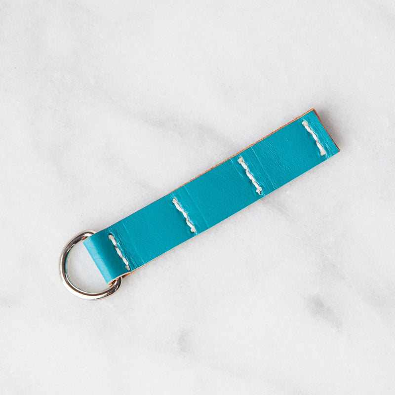 Handmade Leather Sample Keychains Accessories Hive Leather Blue Tansy Teal