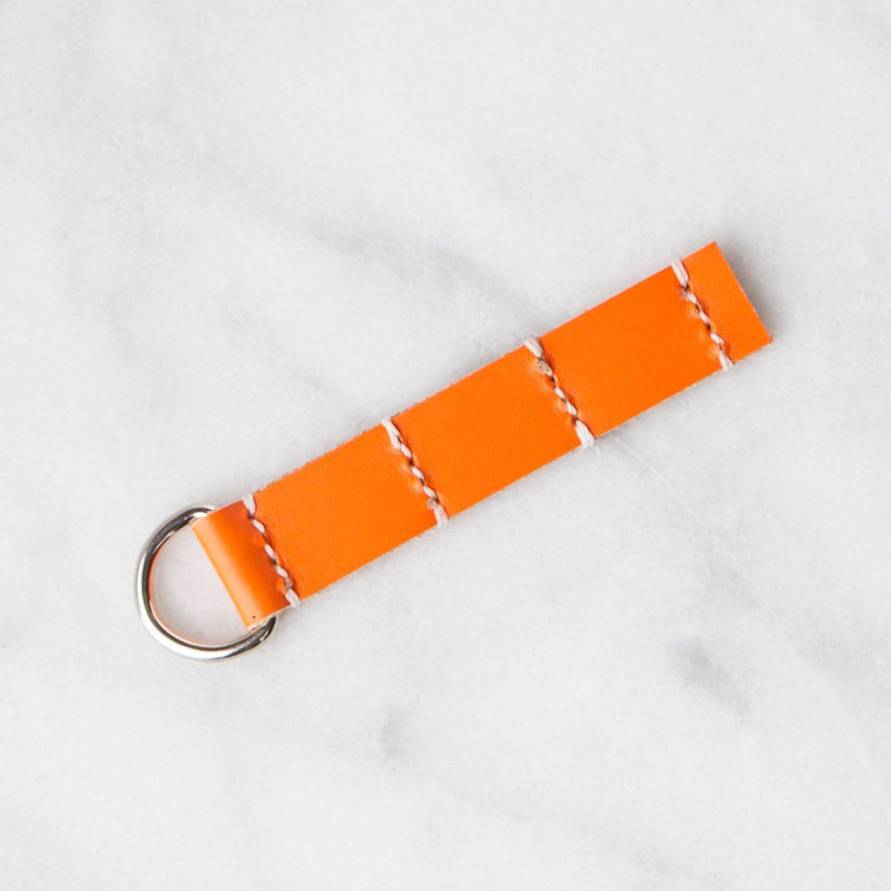 Handmade Leather Sample Keychains Accessories Hive Leather Wild Orange