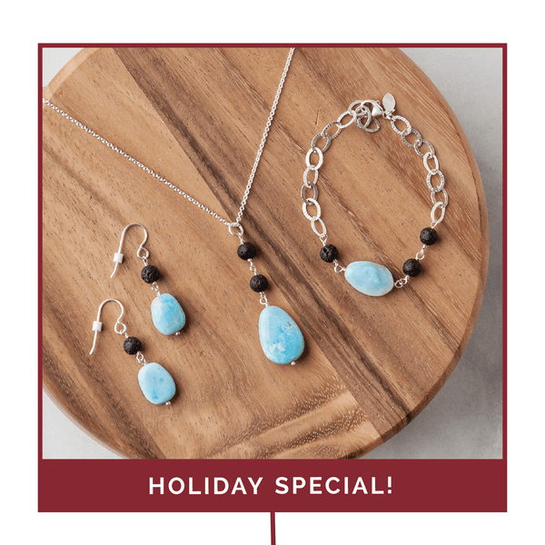 Holiday Larimar Diffuser Jewelry Collection