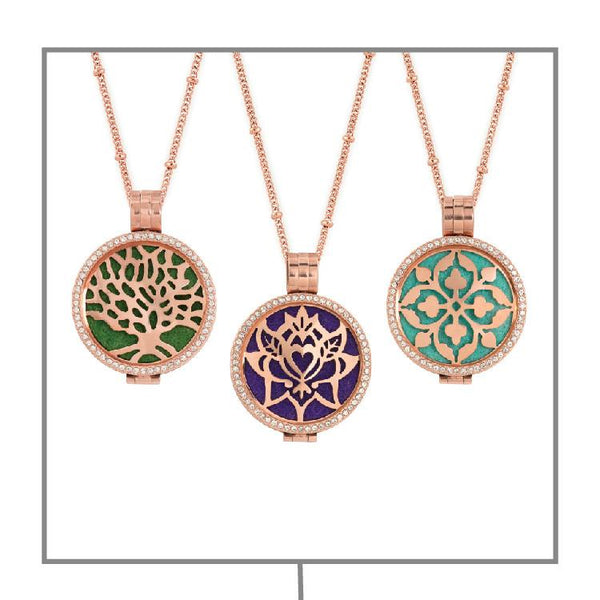 Rose Gold Diffuser Necklace