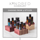 Kindred Essentials Creative Oil Holder Collection Wood Oil Holders Kindred Essentials - eos - Easy Oil Solutions - doterra - essential oils