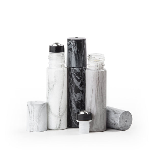 Marble 10 mL Roller Bottle Collection (Pack 6) Containers & Accessories MOB Partner