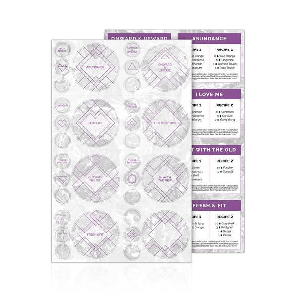 New You Luxe Sticker Labels with Recipes (1 Sheet) Containers & Accessories eos.life - eos - Easy Oil Solutions - doterra - essential oils