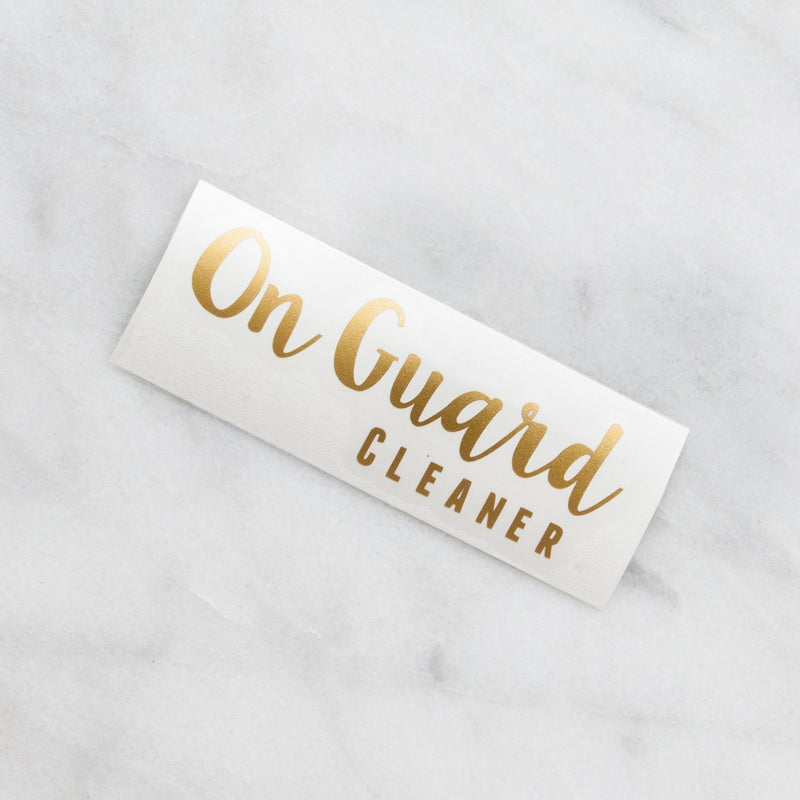 On Guard Cleaner Decal Containers & Accessories Whimsy Wellness 16 oz Gold NO