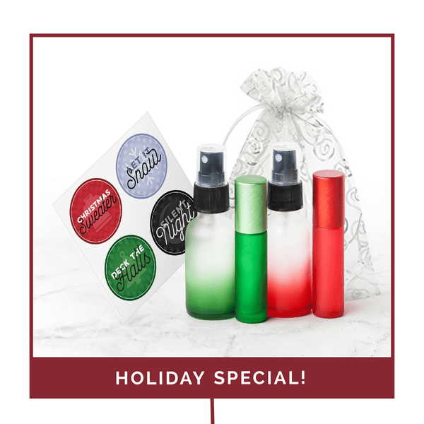 Holiday Label & Bottle Gift Set (Pack of 3)