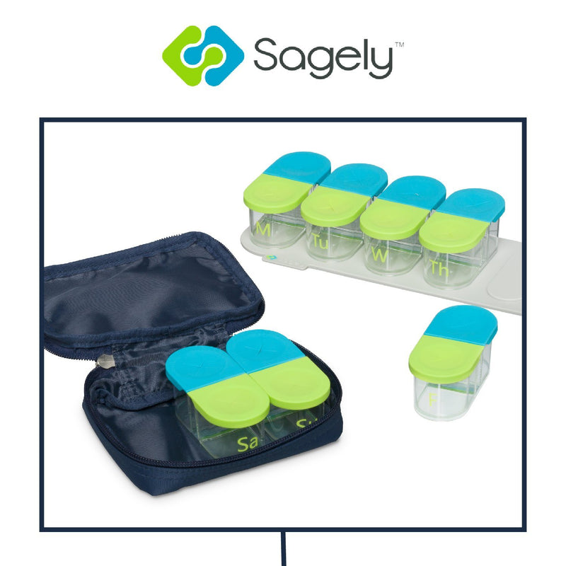 Sagely™ Weekend Travel Pouch for SMART Weekly Pill Organizer