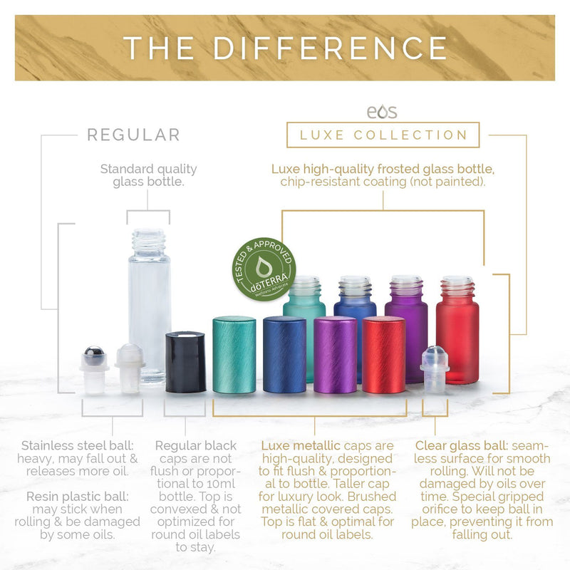 EOS Rainbow Luxe Collection | 5mL Roller Bottle (Packs of 5 or 7) Containers eos - Easy Oil Solutions