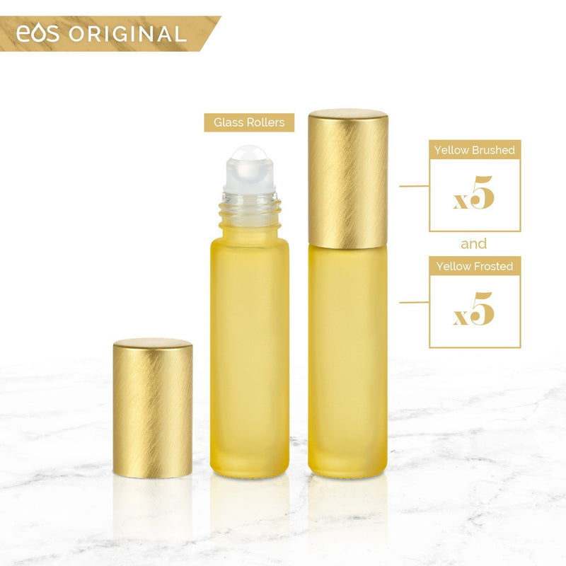 EOS Rainbow Luxe Collection | 10mL Roller Bottle (Packs of 5 or 7) Containers eos - Easy Oil Solutions - eos - Easy Oil Solutions - doterra - essential oils