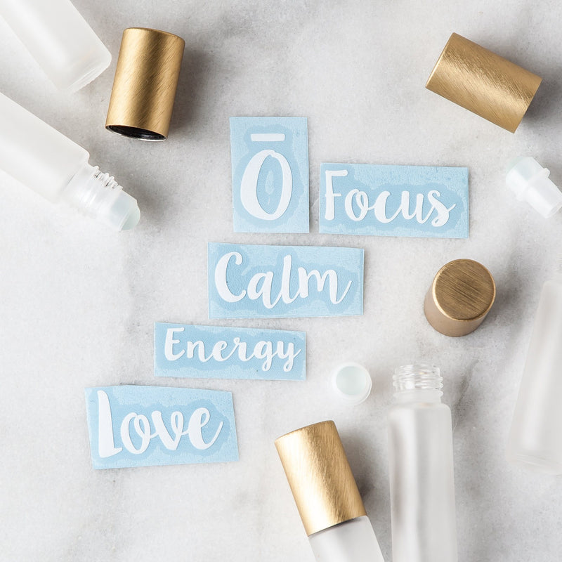 Emotional Roller Decal Set Containers & Accessories Whimsy Wellness White YES - Pack of 5