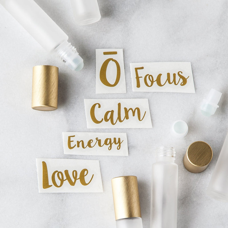 Emotional Roller Decal Set Containers & Accessories Whimsy Wellness Gold YES - Pack of 5