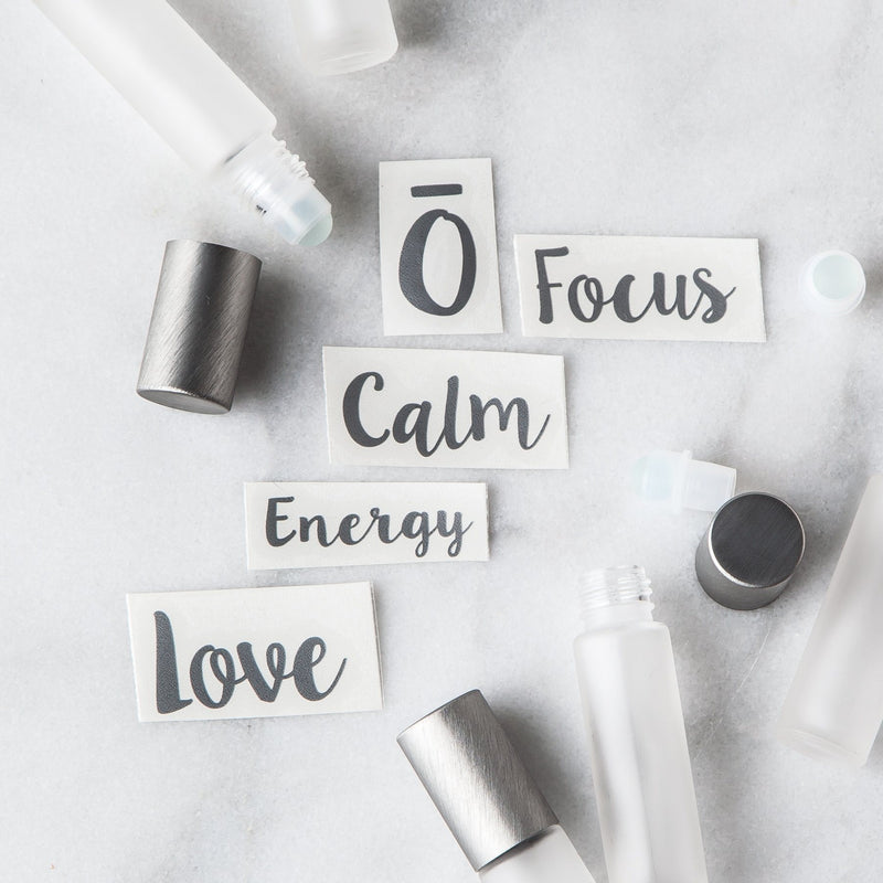 Emotional Roller Decal Set Containers & Accessories Whimsy Wellness Silver YES - Pack of 5