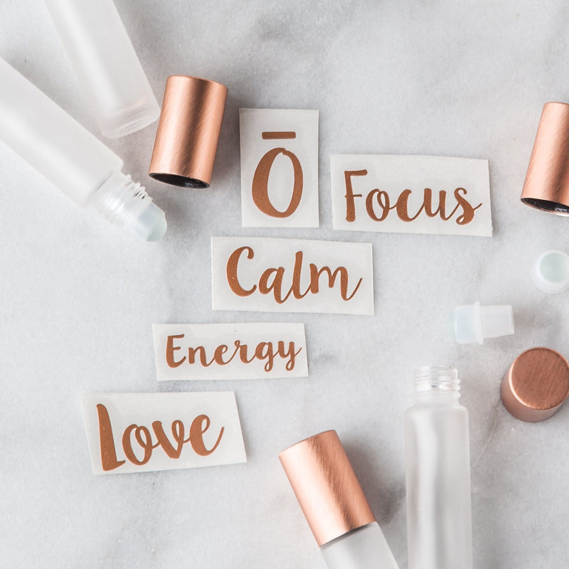Emotional Roller Decal Set Containers & Accessories Whimsy Wellness Copper YES - Pack of 5