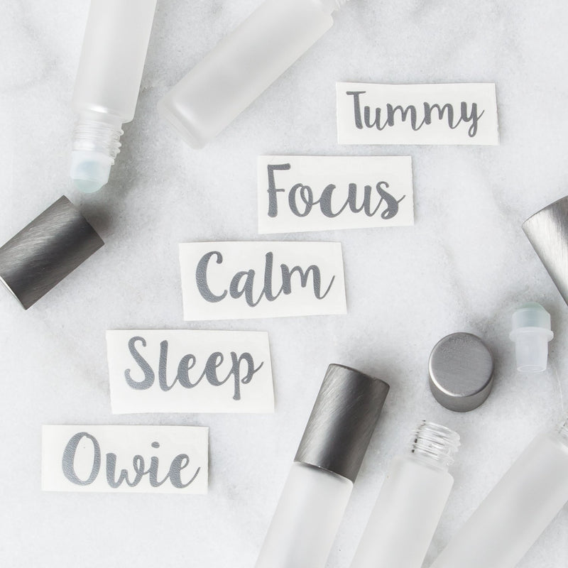 Kids Roller Decal Set Containers & Accessories Whimsy Wellness Silver YES - Pack of 5