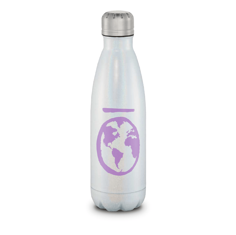 "Dream Stainless Steel Water Bottle Collection Water Bottles eos - Easy Oil Solutions Opal with Lavender ""Wōrld"""