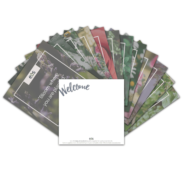 EOS Inspirational Quote Welcome Cards (Pack of 12) Tools eos - Easy Oil Solutions