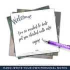EOS Inspirational Quote Welcome Cards (Pack of 12) Tools eos - Easy Oil Solutions - eos - Easy Oil Solutions - doterra - essential oils
