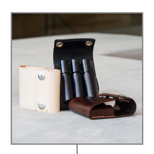 Leather Roller Case (Fits 3 - 10ml Rollers)