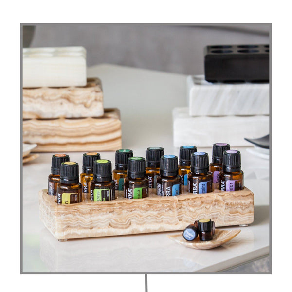 Stone Classic Oil Holder (15mL - 12 holes) Stone Oil Holders Shades Of Stone - eos - Easy Oil Solutions - doterra - essential oils
