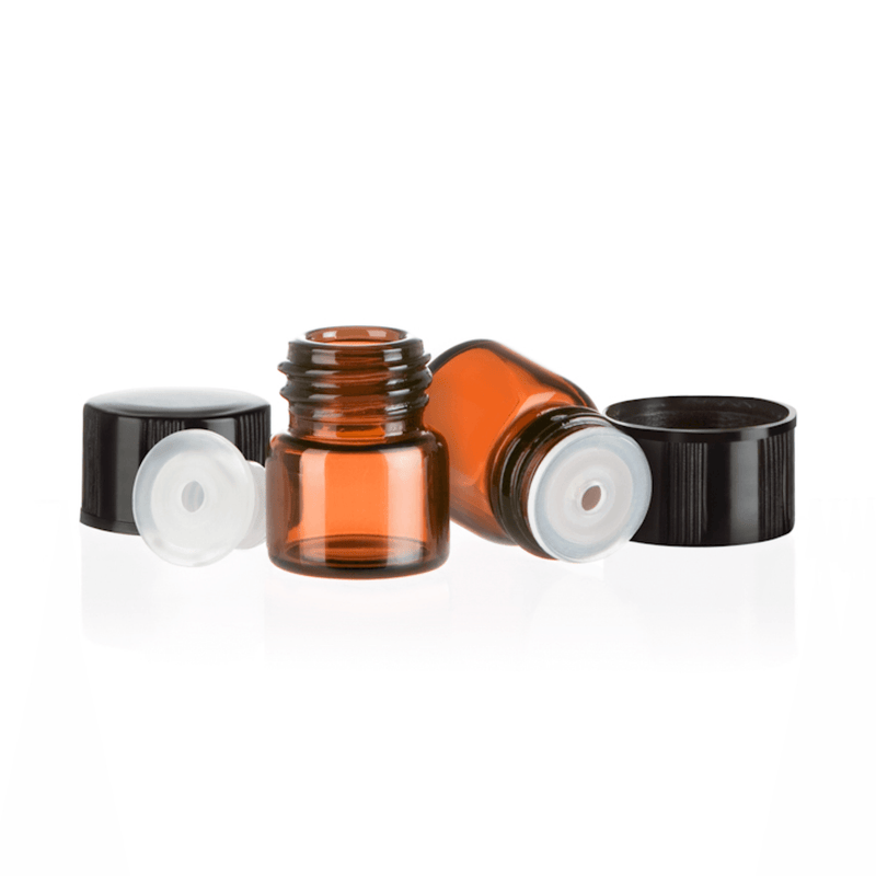 z - 1/4 Dram Amber Glass Sample Bottle (Pack of 36 or 144) Containers eos.life - eos - Easy Oil Solutions - doterra - essential oils