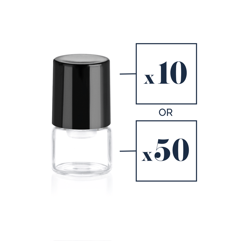1 mL Clear Glass Roller Sample Bottle (10 or 50 pack) Containers eos.life - eos - Easy Oil Solutions - doterra - essential oils