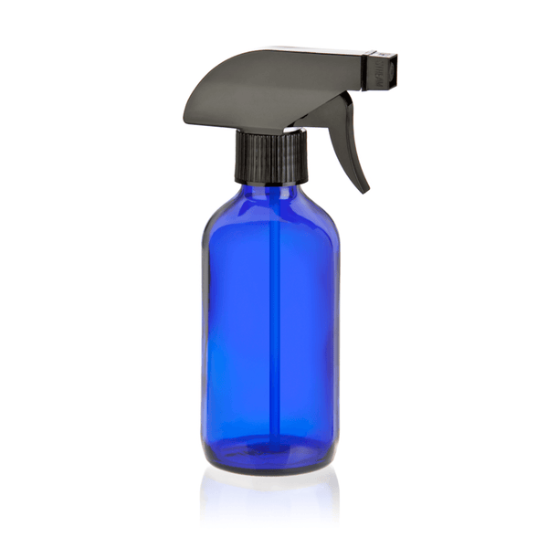 8oz Blue Glass Spray Bottle & Top (Pack of 5)