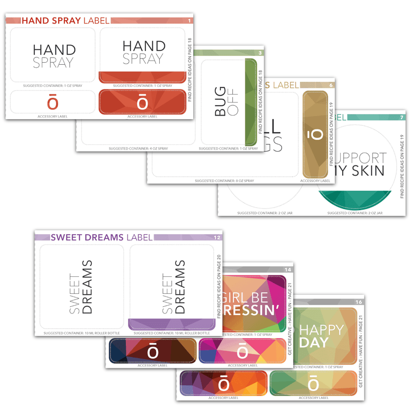 Essential Living Booklet & Labels Accessories eos.life - eos - Easy Oil Solutions - doterra - essential oils