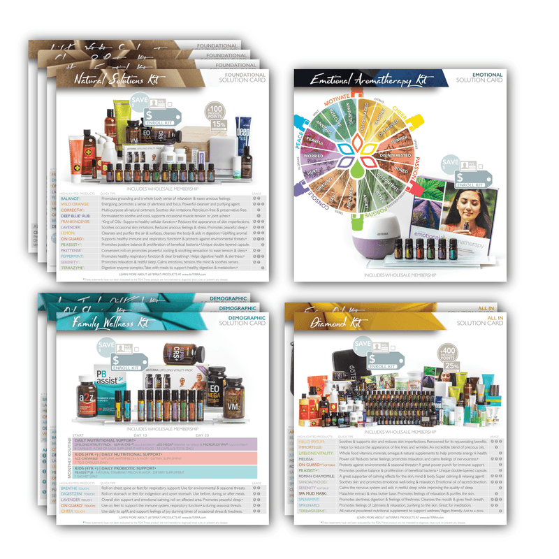 2017 Single Theme Pack | Solution Cards (Individual Packs of 10) Tools Sharing Made Simple - eos - Easy Oil Solutions - doterra - essential oils