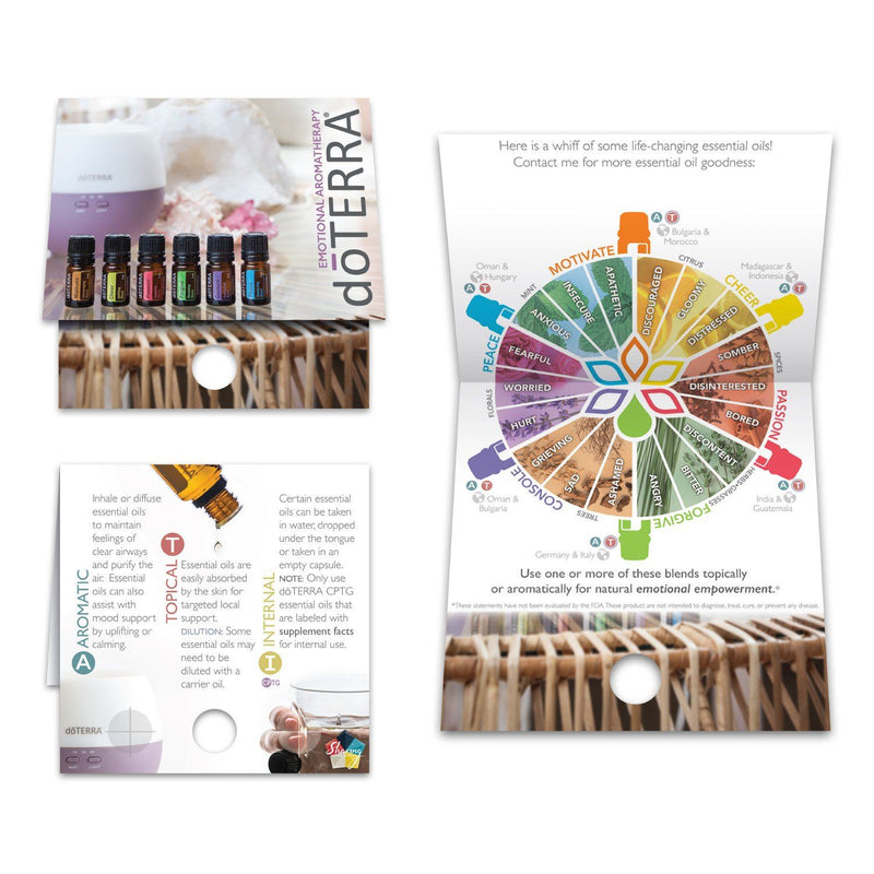 Mix Pack | Emotional Support Sample Cards (3 of each card - Mix Pack of 12) Tools Sharing Made Simple - eos - Easy Oil Solutions - doterra - essential oils