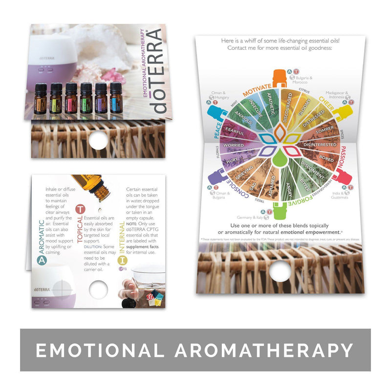 Single Theme Pack | Emotional Support Sample Cards (Individual Packs of 10) Tools Sharing Made Simple Emotional Aromatherapy Sample Cards (10 Cards)