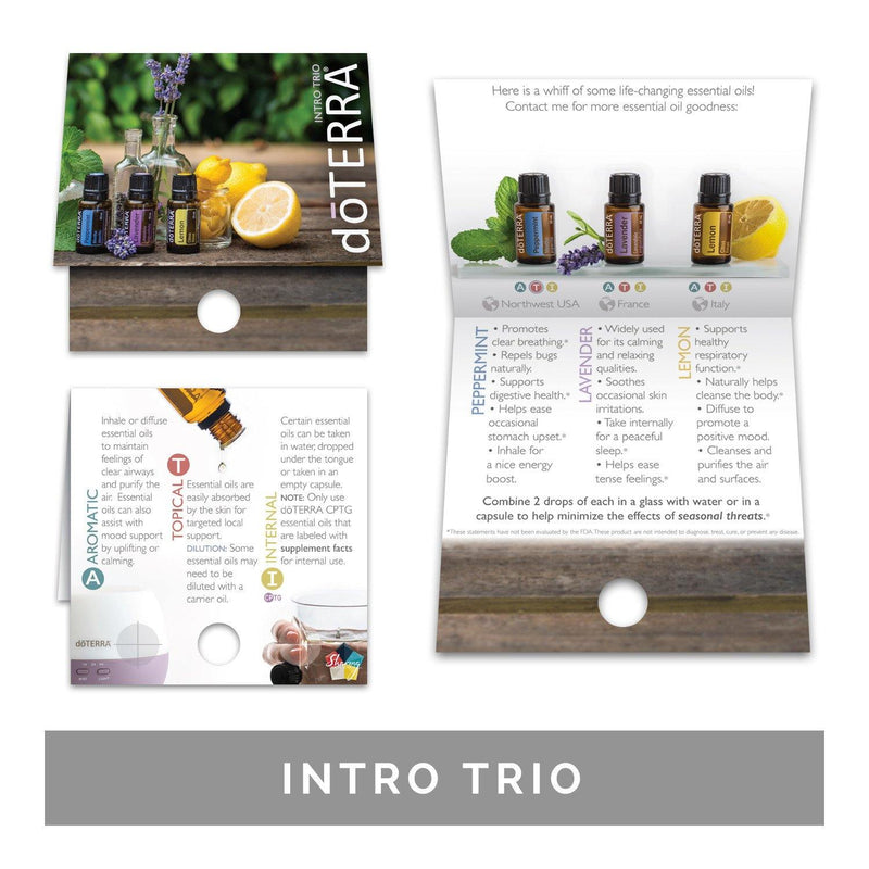 Single Theme Pack | Physical Support Sample Cards (Individual Packs of 10) Tools Sharing Made Simple - eos - Easy Oil Solutions - doterra - essential oils