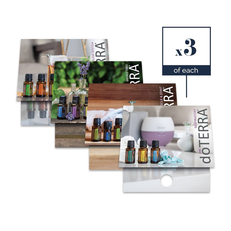 Mix Pack | Physical Support Sample Cards (3 of each card - Mix Pack of 12) Tools Sharing Made Simple - eos - Easy Oil Solutions - doterra - essential oils