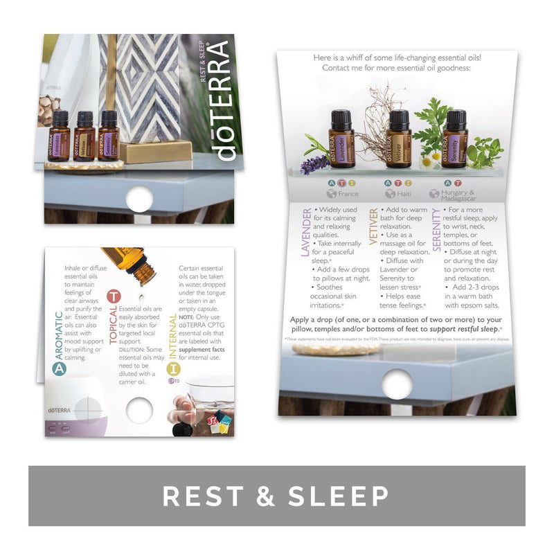 Single Theme Pack | Emotional Support Sample Cards (Individual Packs of 10) Tools Sharing Made Simple Rest & Sleep Sample Cards (10 Cards)
