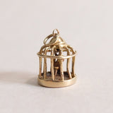 Vintage 9ct Gold Bird Cage Charm
