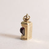 Vintage 9ct Gold Charm - Gold Lantern Charm - rare unique charms