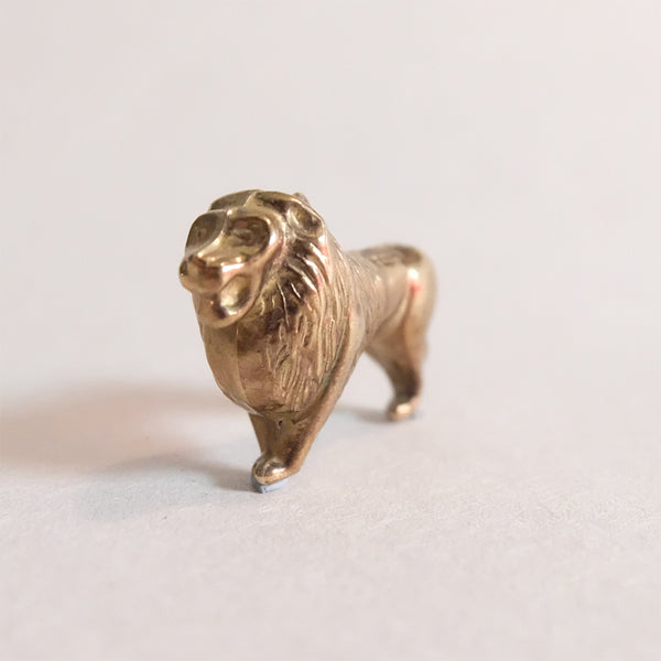 Vintage 9ct Gold Lion Charm
