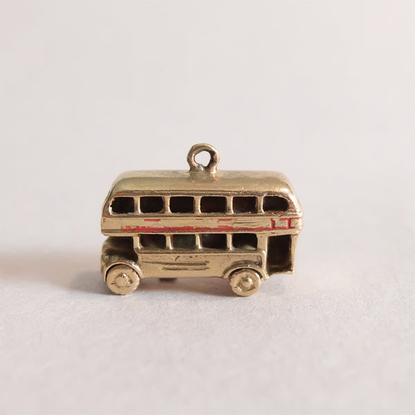 Vintage 9ct Gold London Bus Charm Pendent