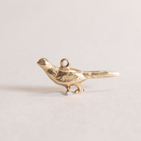 Vintage 9ct Gold Pheasant (Bird) Charm