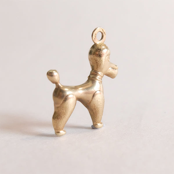 Vintage 9ct Gold Poodle Dog Charm