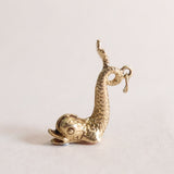 Vintage 9ct Gold Sea Serpent Charm