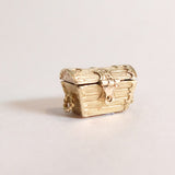 Vintage 9ct Gold Treasure Chest Charm