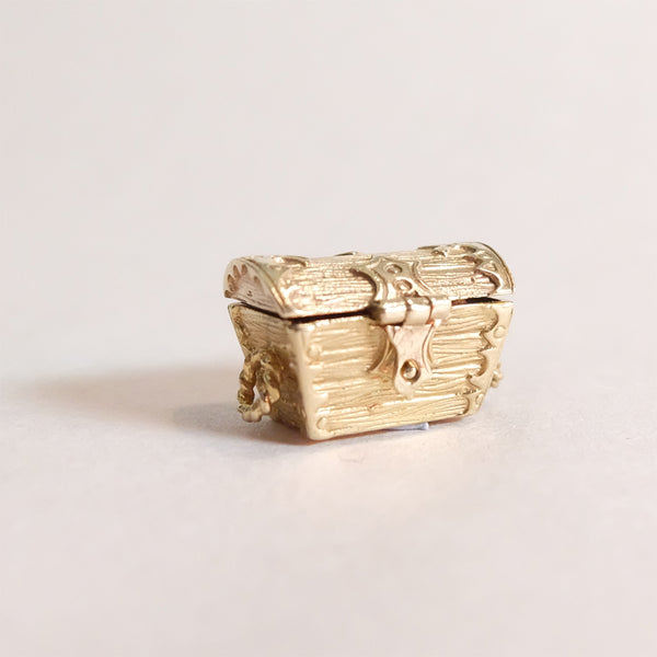Vintage 9ct Gold Charm - Treasure Chest