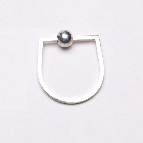 Alice Eden Jewellery Dot Dash Silver U Shaped Bead Ring jewelry