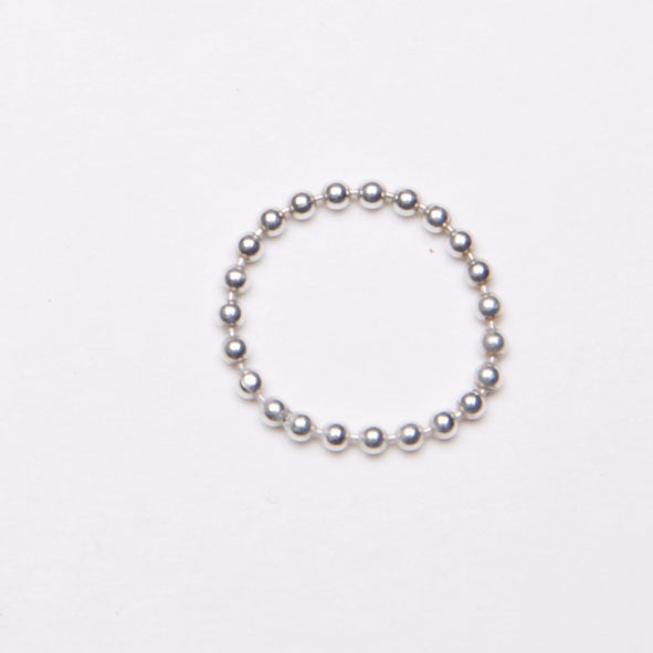 Alice Eden Jewellery Dot Dash Silver Ball Chain Ring Jewelry
