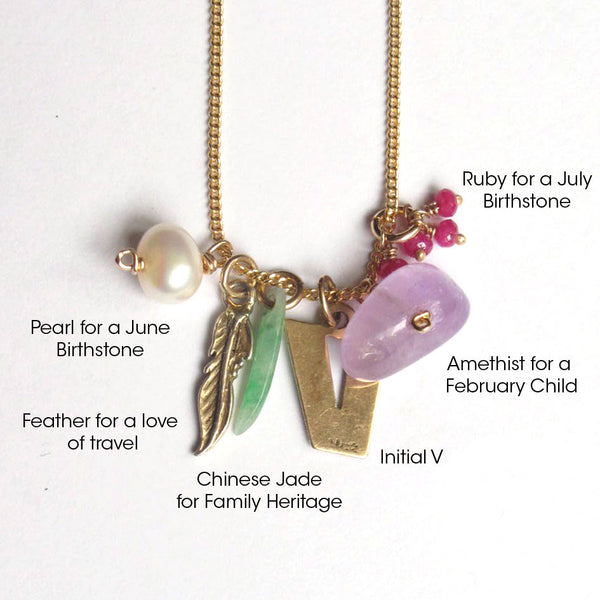 Personalised Bespoke Family Charm Necklace