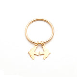 alice eden Jewellery jewelry gold bird charm stacking pinkie ring
