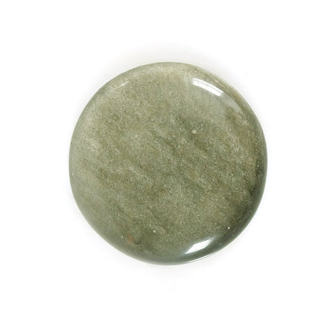 Green Obsidian Round Gemstone