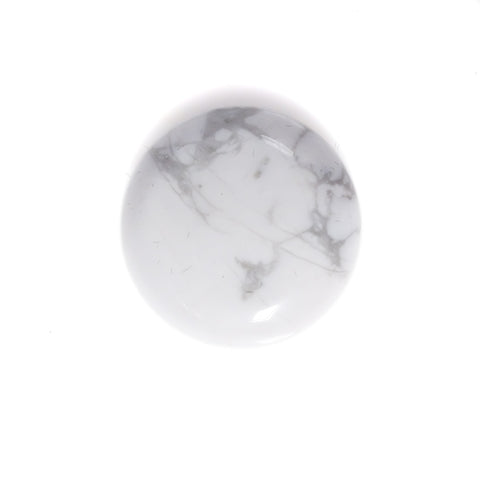 Howlite semi precious gemstone - round stone for handmade custom earth rings