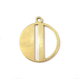 Gold Art Deco Initial Letter M Pendant Necklace